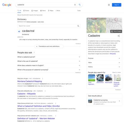 cadastral - Google Search