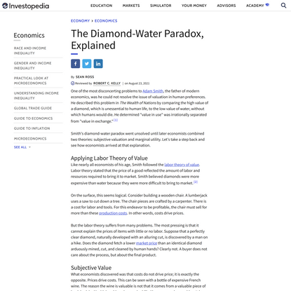 Why Are Diamonds Worth More Than Water?