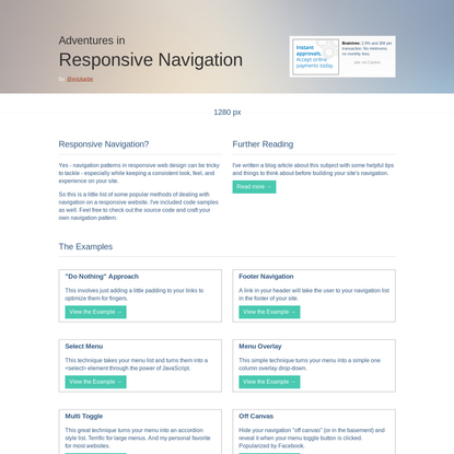 Responsive Navigation | Examples of Navigation in Responsive Design