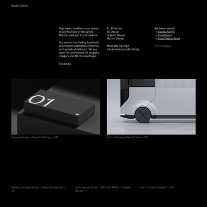 Studio Family ― Creative visual design studio