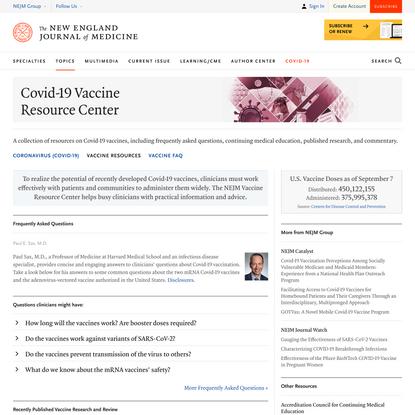 Covid-19 Vaccine Resource Center