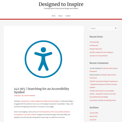 142:365 | Searching for an Accessibility Symbol – Designed to Inspire