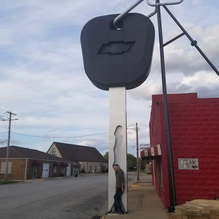 worlds largest truck key in Casey, IL