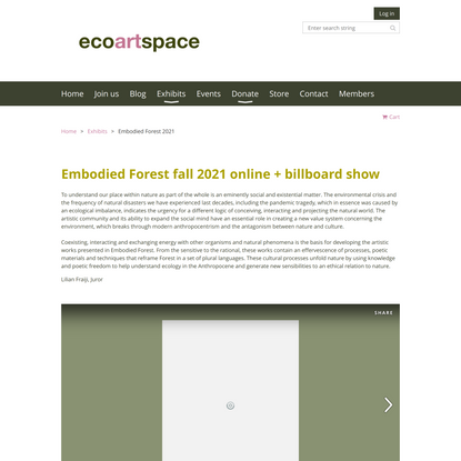 ecoartspace - Embodied Forest 2021