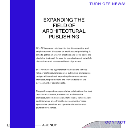 Expanding the Field of Architectural Publishing