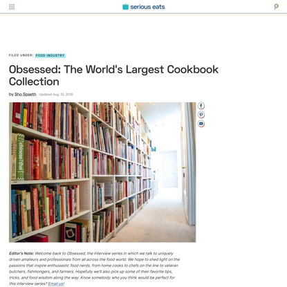 Obsessed: The World's Largest Cookbook Collection