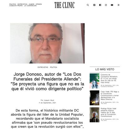 """Jorge Donoso: """"Se proyecta una figura que no es la que Allende vivió"""""""