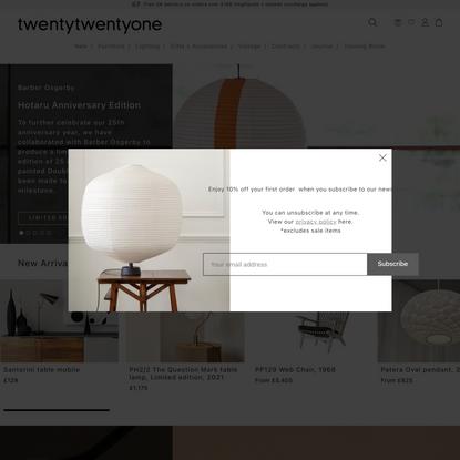 Classic & contemporary furniture, lighting, homeware | twentytwentyone