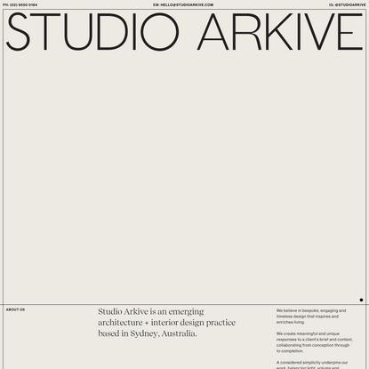 Studio Arkive