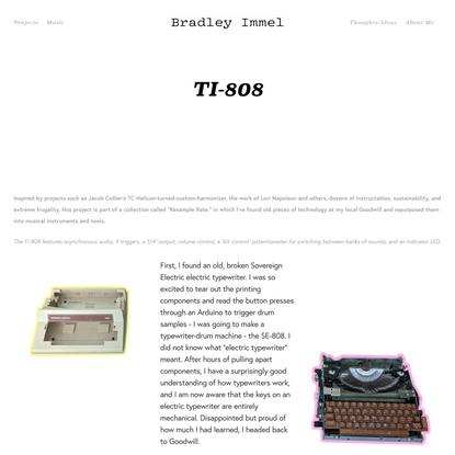 TI-808 — Bradley Immel