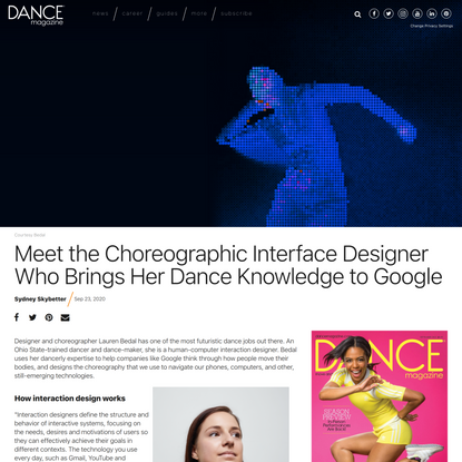 Meet the Choreographic Interface Designer Who Brings Her Dance Knowledge to Google