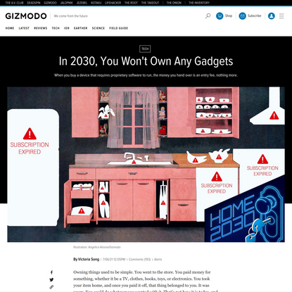 In 2030, You Won't Own Any Gadgets