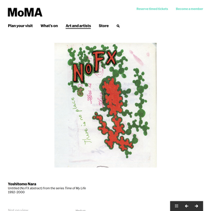 Yoshitomo Nara. Untitled (No FX abstract) from the series Time of My Life. 1992–2000   MoMA