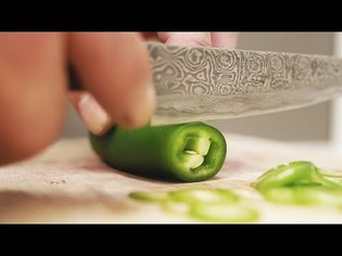 Sharp Japanese Knife Cutting Vegetables: ASMR (No Talking)