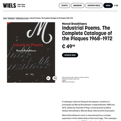WIELSIndustrial Poems The Complete Catalogue of the Plaques…