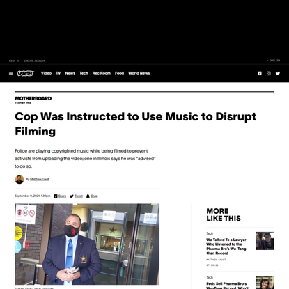 Cop Was Instructed to Use Music to Disrupt Filming