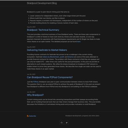 Braidpool Development Blog