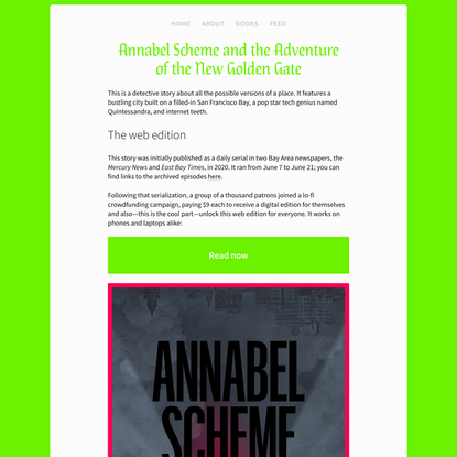 Annabel Scheme and the Adventure of the New Golden Gate