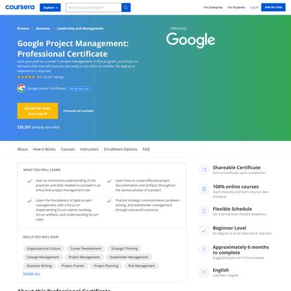 Google Project Management: