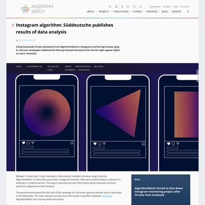 Instagram algorithm: Süddeutsche publishes results of data analysis - AlgorithmWatch