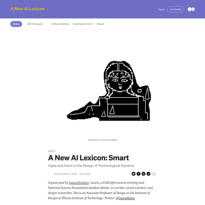 A New AI Lexicon: Smart