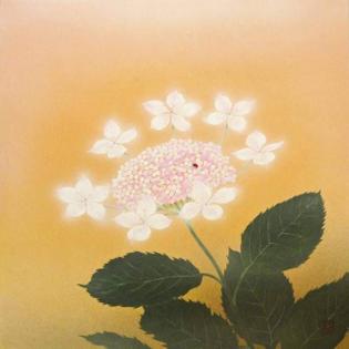 'Hydrangea' (あじさい), 2017, by Sudō Kazuyuki (須藤 和之), a contemporary Japanese artist who was born in Gunma Prefecture (群馬県) in 1981.