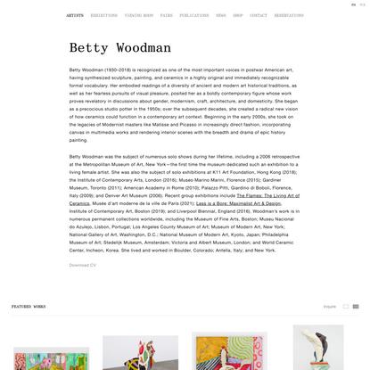 Betty Woodman - Artist - David Kordansky Gallery