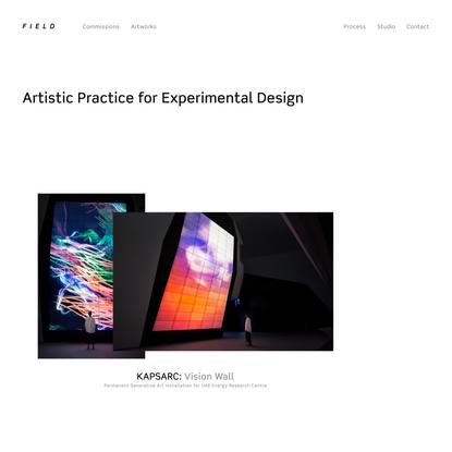 FIELD.IO x Artistic Practice for Experimental Design
