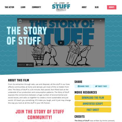 The Story of Stuff - Story of Stuff