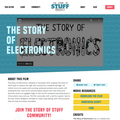 The Story of Electronics - Story of Stuff