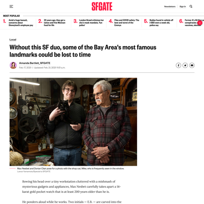 'An insane hobby': Meet the duo keeping SF running on time