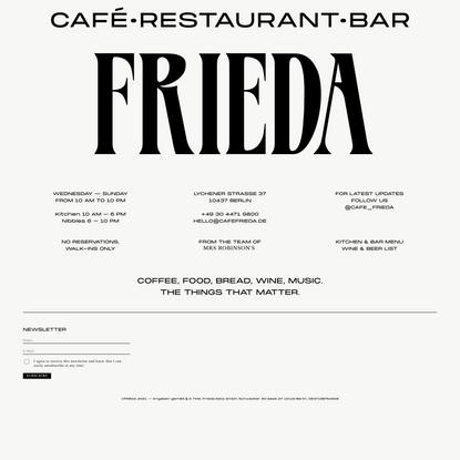 Café Frieda