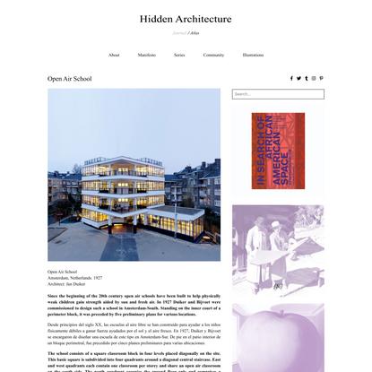 Open Air School - Hidden Architecture