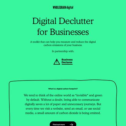 Digital Declutter Toolkit from Business Declares