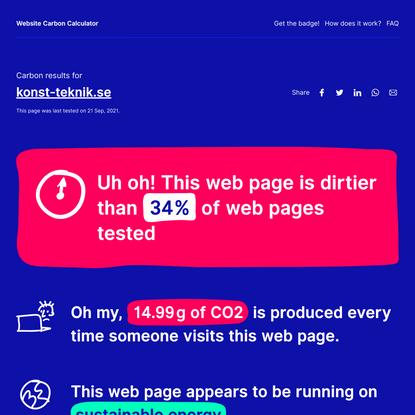 konst-teknik.se - Website Carbon Calculator