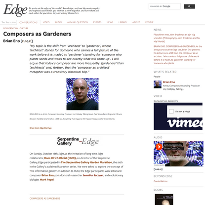 Composers as Gardeners   Edge.org