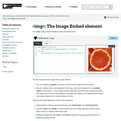 : The Image Embed element - HTML: HyperText Markup Language | MDN
