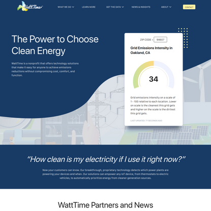 Watttime – The Power to Choose Clean Energy