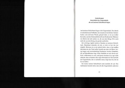 Georges Perec – Anmerkungen hinsichtlich der Gegenstaende die auf meinem Schreibtisch liegen