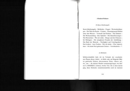 Georges Perec – »Denken/Ordnen«