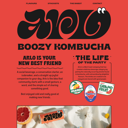 Arlo Boozy Kombucha - The Life of the Party - Official Site