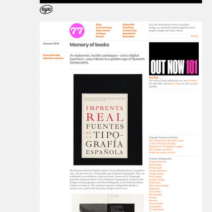 Eye Magazine | Feature | Memory of books