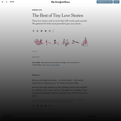 The Best of Tiny Love Stories - The New York Times