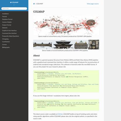 COLMAP — COLMAP 3.7 documentation