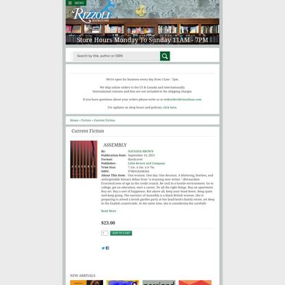 ASSEMBLY   Rizzoli Bookstore