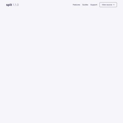 splt.js • A lightweight text splitter