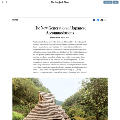 The New Generation of Japanese Accommodations