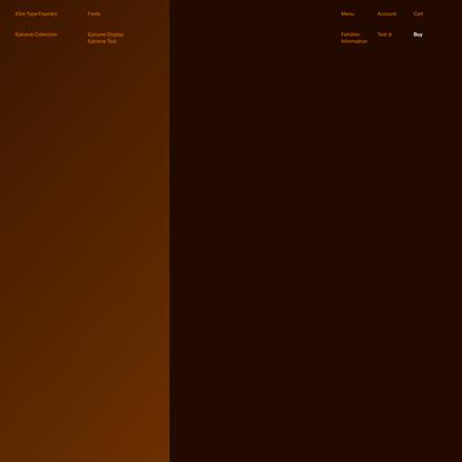 Klim Type Foundry · Epicene Collection