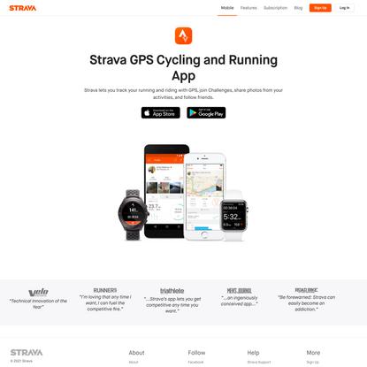Running App and Cycling App | Strava