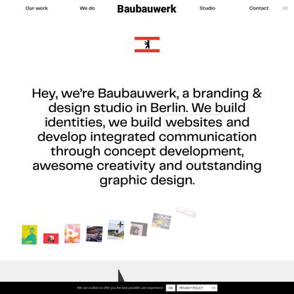 Baubauwerk - Branding & design. Berlin